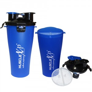 Buy MuscleXP Pre And Post Workout Shaker Bottle With Strainer - Design 5 - Nykaa