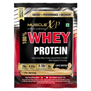 Buy MuscleXP 100% Whey Protein - Cafe Mocha 1 Sachet - Nykaa