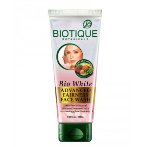 Buy Biotique Bio White Advanced Fairness Face Wash - Nykaa