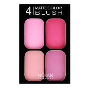 Buy Nicka K 4 Color Matte Blush Set - Nykaa