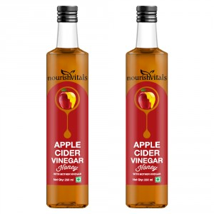 Buy Nourish Vitals Apple Cider Vinegar With Honey x 2 Bottles - With Mother Vinegar - Nykaa