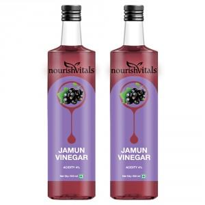 Buy Nourish Vitals Jamun Vinegar x 2 Bottles - Raw, Unfiltered & Undiluted - Nykaa