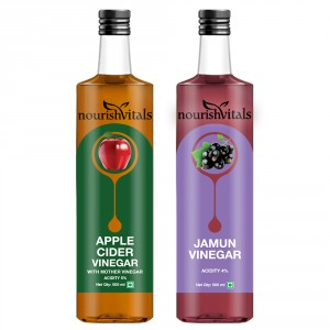 Buy Nourish Vitals Apple Cider Vinegar + Jamun Vinegar - Nykaa