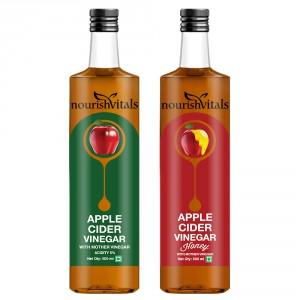 Buy Nourish Vitals Apple Cider Vinegar + Apple Cider Vinegar With Honey - Nykaa