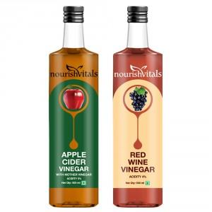 Buy Nourish Vitals Apple Cider Vinegar + Red Wine Vinegar - Nykaa