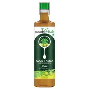 Buy Nourish Vitals Aloe + Amla Super Energizer Juice - Nykaa