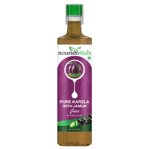 Buy Nourish Vitals Pure Karela With Jamun Juice - Nykaa