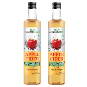 Buy Nourish Vitals Apple Cider Natural Vinegar Pure Filtered (Pack Of 2) - Nykaa