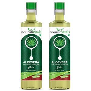Buy Nourish Vitals Pure Aloe Vera Drinking Gel Juice (Pack Of 2) - Nykaa