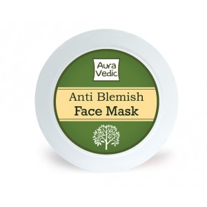 Buy AuraVedic Anti Blemish Face Mask with Neem Tea Tree Basil - Nykaa