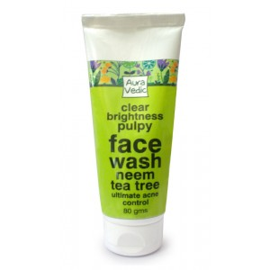 Buy Herbal AuraVedic Clear Brightness Pulpy with Neem Tea Tree Face Wash - Nykaa