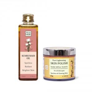 Buy Auravedic Kumkumadi Oil + Sandal Polish - Nykaa