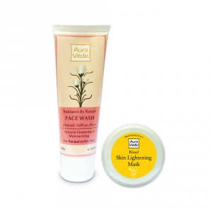 Buy Auravedic Radiance By Nature Face Wash + Ritual Skin Lightening Mask - Nykaa