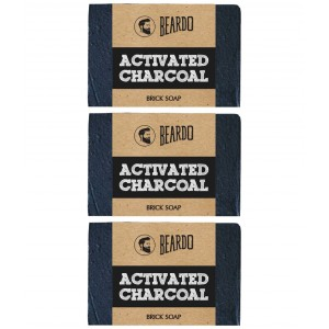 Buy Beardo Activated Charcoal Brick Soap  -  125 gm - Set Of 3 - Nykaa