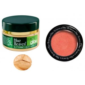 Buy Blue Heaven Face Glow & Diamond Blush On 503 Combo - Nykaa