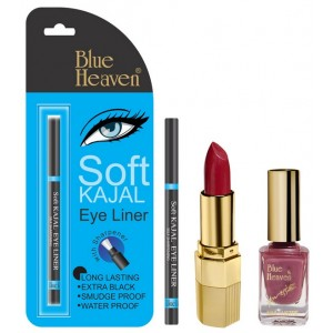 Buy Herbal Blue Heaven Xpression Lipstick P 067, Xpression Nail Paint 927 & Bh Kajal Liner Combo - Nykaa