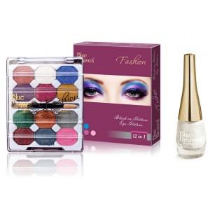 Buy Blue Heaven 12X1 Fashion Eye Shadow & Sparkeling Eyeliner 01 Combo - Nykaa