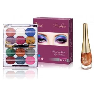 Buy Blue Heaven 12X1 Fashion Eye Shadow & Sparkeling Eyeliner 03 Combo - Nykaa