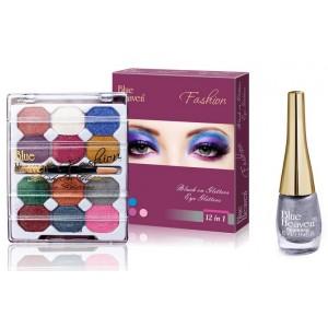 Buy Blue Heaven 12X1 Fashion Eye Shadow & Sparkeling Eyeliner 11 Combo - Nykaa