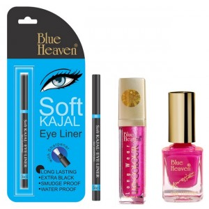 Buy Herbal Blue Heaven Long Wear Lip Color 231, Xpression Nail Paint 963 & Bh Kajal Liner Combo - Nykaa