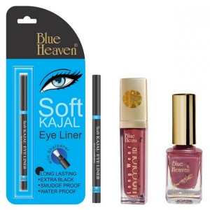 Buy Blue Heaven Long Wear Lip Color 232, Xpression Nail Paint 927 & Bh Kajal Liner Combo - Nykaa