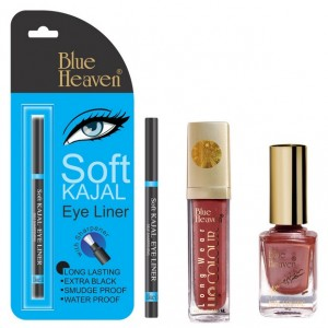 Buy Blue Heaven Long Wear Lip Color 250, Xpression Nail Paint 931 & Bh Kajal Liner Combo - Nykaa