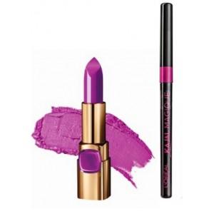 Buy L'Oreal Paris Color Riche Moist Matte Lipstick - M511 Glamour Fuchsia + Free Kajal Magique - Nykaa