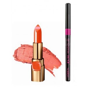 Buy L'Oreal Paris Color Riche Moist Matte Lipstick - C511 Orange Power + Free Kajal Magique - Nykaa