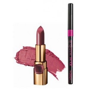Buy L'Oreal Paris Color Riche Moist Matte Lipstick - PM414 Sheer Plum + Free Kajal Magique - Nykaa