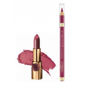 Buy L'Oreal Paris Color Riche Moist Matte Lipstick - Sheer Plum + Lip Linner Couture - Blush Fever - Nykaa