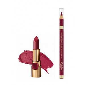 Buy Herbal L'Oreal Paris Color Riche Moist Matte Lipstick - Black Cherry + Lip Linner Couture - Berry Blush - Nykaa