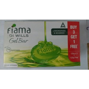 Buy Fiama Di Wills Clear Springs Gel Bar 125gms (Buy 3 + 1 Free) - Nykaa