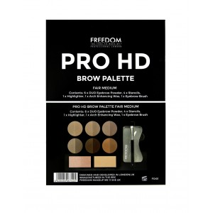Buy Freedom Pro HD Brow Palette Fair Medium - Nykaa