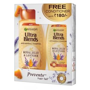 Buy Garnier Ultra Blends Royal Jelly & Lavender Shampoo + Free Conditioner - Nykaa