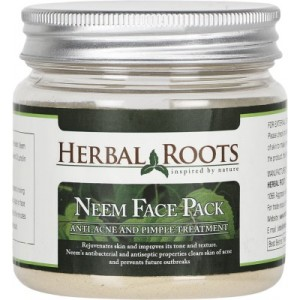 Buy Herbal Roots Anti Acne / Pimple Care And Pimple Remover Neem Face Pack - Nykaa