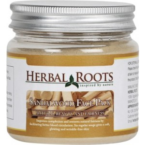 Buy Herbal Roots Skin Care 100% Natural Beauty Product - Sandalwood Face Pack - Nykaa