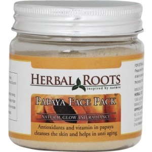 Buy Herbal Roots Skin Whitening Papaya Face Pack - Nykaa