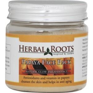 Buy Herbal Roots Skin Whitening Papaya Face Pack - Nykaa