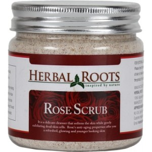 Buy Herbal Roots Skin Care 100% Natural Beauty Product - Rose Face and Body Scrub - Nykaa