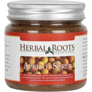 Buy Herbal Roots Anti Blemish, Blackhead Remover And Skin Lightening Apricot Scrub For Face Treatment - Nykaa