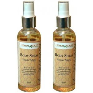 Buy Herbal Roots Sandal Magic Body Spray for Men - Nykaa