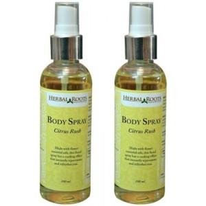 Buy Herbal Roots Citrus Rush Body Spray for Men & Women - Nykaa