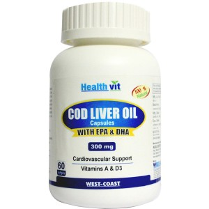 Buy Herbal Healthvit Cod Liver Oil - 60 Softgel Capsules - Nykaa