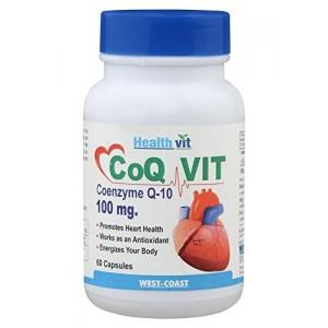 Buy Healthvit Co - Qvit CO - Q 10 Enzyme - 60 Capsules - Nykaa