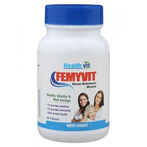 Buy Healthvit FEMYVIT Women Multivitamin Minerals - 60 Tablets - Nykaa