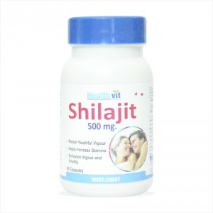 Buy Herbal Healthvit Shilajit Increases Stamina And Sexual Health - 60 Capsules - Nykaa