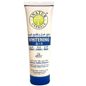 Buy Inatur Whitening 3 In 1 Face Wash (Scrub + Pack) - Nykaa