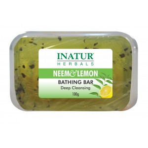 Buy Inatur Neem & Lemon Bathing Bar - Nykaa