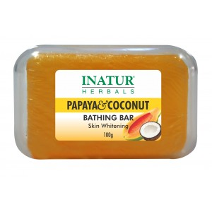 Buy Inatur Papaya & Coconut Bathing Bar - Nykaa