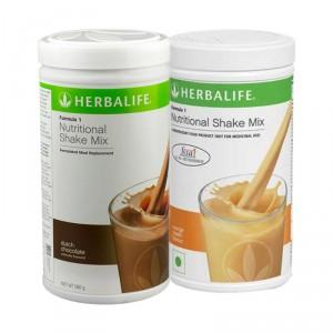 Buy Herbalife Formula 1 Nutritional Shake Mix Dutch Chocolate & Orange Cream - Pack of 2 - Nykaa